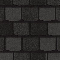 Гибкая черепица CertainTeed Highland Stlate Black Granite (руб/м2)